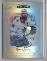 2019-20 Upper Deck Stature AUTO 16 Brent Burns San Jose Sharks