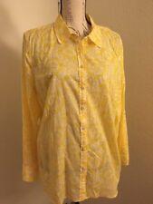 TALBOTS Women's Stunning Yellow Long Sleeves Blouse Sixe XL