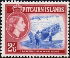 Pitcairn Islands 1957 QEII  2/6d Ultramarine & Lake  SG.28 Mint Lightly (Hinged)