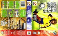 - International Superstar Soccer '98 N64 Game Case Box + Cover Art Work Only