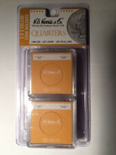 6 Orange Color Coded Snaplocks for 24mm Us Quarter & Other Coins by H E Harris