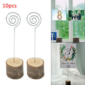 10 X Wooden Table Number Easel Wedding Photo Desktop Holder Display Stand