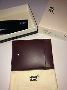 Montblanc Meisterstück Pocket 4 cc with ID Card Holder Burgundy-New-Unused