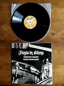 LP - FIESTA IN DRUMS / Christian VANDER / Frank RAHOLISON - PALM 3 1973 MAGMA