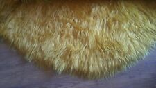 """Large Vintage Yellow Mustard Furry Rug Sz 120""""X120"""" (10ftX10ft)"""