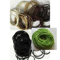 Thin Elastics Snag Free Hair Bands Ponytail Bobbles Ponios Black & Brown 12 pcs