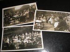 3 Old postcards of a garden party c1920s ref 36