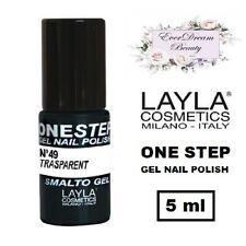 Semipermanente LAYLA ONE STEP N. 49 (Trasparent) - Smalto Gel Polish EVERDREAM