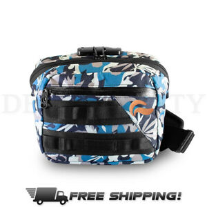 Skunk Kross Smell Proof Odor Proof Bag with Combo Lock Stash Bag - Blue Camo