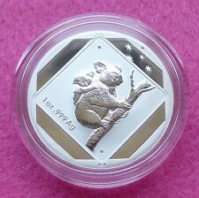 2014  AUSTRALIA ROAD SIGN KOALA   $1 ONE DOLLAR SILVER  FROSTED BU 1oz  COIN BOX