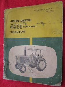 VINTAGE ORIGINAL JOHN DEERE 4520 ROW-CROP TRACTOR OPERATORS MANUAL