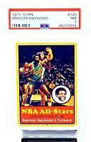 1973 Topps Seattle SPENCER HAYWOOD Vintage Basketball Card PSA 7 NEAR MINT