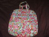 Vera Bradley quilted pink yellow orange blue green shoulder bag school shop boho