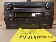 2011 - 2012 Toyota Corolla AM-FM-CD-MP3 Radio