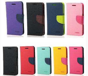 Sony Xperia Z Z1 Z2 Z3 Z4 Z5 Fancy Mercury Cover Premium Wallet Case Protector