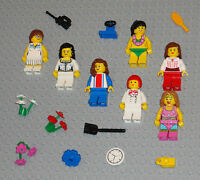 Lego MINIFIGURES 7 Girls Women Lady People Flowers Female Town Minifigs Toys