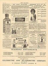1883 PRINT ~ ASSTD ADVERTS ~ BARBOUR LEICESTER RACECOURSE CO ARGOSY BRACES ETC