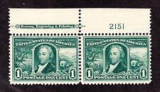 US 323 1c Louisiana Purchase Mint Top MI Plate Pair #2151 F-VF OG NH/ H SCV $120