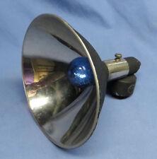 """Vintage HR Heiland Flash Head w/6"""" Reflector & Bulb 1 1/2"""" Post Head GC"""