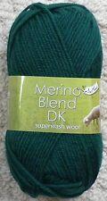 12x King Cole Merino Blend DK Shade 33 Bottle Green 12 X 50g Balls