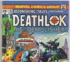 ASTONISHING TALES #28 with Deathlok the Demolisher from Feb. 1975 in VG- Con.