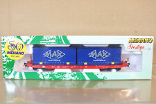 MEHANO 18506DB Máximo Logistik Vagón de transporte conatiner Wagon 250-7 MINT