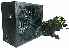 SHARK 1000W Gaming PC ATX/EPS 12V 2x PCIe Silent Power Supply Unit over 80 % eff