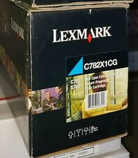 LEXMARK C782X1CG Extra Hi Yield CYAN C782 X782 Box Open Toner Bag SEALED GENUINE