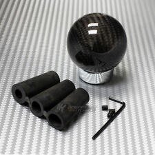 100% Real Carbon Fiber Ball Manual MT Gear Stick Shifter Shift Knob Universal 5
