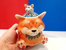 cat with mouse porcelain figurine sugar bowl hand painting Bank bulk products