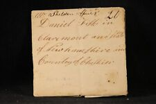 Vermont: Sheldon 1812 Stampless Cover Ms, 20c Rate to Claremont NH Great Address