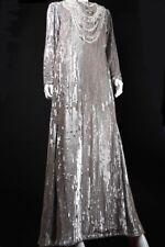 TRAUM Pailletten Perlen Kleid silber Kostüm Komische Oper Berlin Yan Tax 38 40