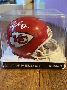 Dante Hall Kansas City Chiefs Signed Autographed Mini Helmet  PSA Witness