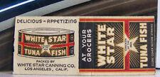Rare Vintage Matchbook M2 Los Angeles California White Star Tuna Fish Canning