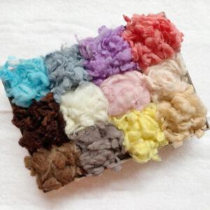 50g Curly Felting Wool Fibre Felt Fabric Felt Craft DIY Doll Handmade Needlework