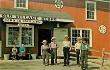 Old Village Store Amish Children Bird-In-Hand Pennsylvania Lancaster Pa Postcard