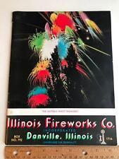 Vtg 1957 Illinois Fireworks Co Danville Il program Exhibitions Catalog pricing