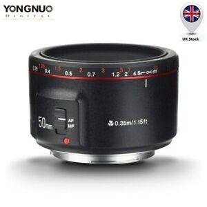 Yongnuo YN50mm F1.8II AF MF Prime Fixed Lens for Canon 7DII 7D 6D 5D 80D 70D 60D