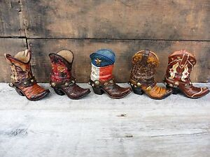 COWBOY BOOT = Choose Western Rustic Resin Decor Wedding Birthday CAKE TOPPER