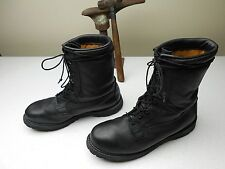 BLACK VIBRAM SOLE ROCKY MILITARY ISSUE LACE UP COMBAT MOTORCYCLE BOOTS 12.5 W