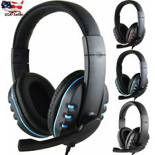 3.5mm Gaming Headset Stereo Earphone Headphone with Mic For PS4 PC Xboxone US