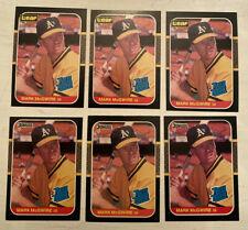 MARK MCGWIRE 1987 ROOKIE DONRUSS (3) LEAF (3) BASEBALL CARD #46 (6) CARD LOT