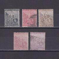 CAPE OF GOOD HOPE 1882, SG# 40-44, Wmk Crown CA, Part set, Used