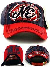 New England New Women Ladies Vintage Patriots Blue Red Era Strapback Hat Cap