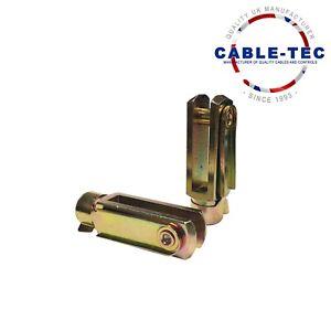 2 X M10 LONG CLEVIS & SPRING CLIP   Cable Tec