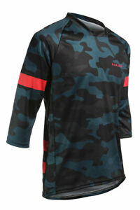Top Quality Camouflage AIR Dirt Bike 3/4 sleeve Jerseys MTB Cycling Mountains
