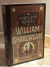 THE COMPLETE WORKS OF WILLIAM SHAKESPEARE- LEATHERBOUND & BRAND NEW IN SHRINK!!!