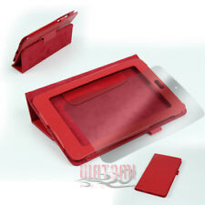 "NEW CASE COVER+SCREEN PROTECTOR POUCH PU LEATHER RED GOOGLE ASUS NEXUS 7"" TABLET"