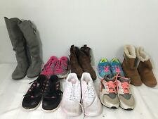 Lot of 8 Girls Shoes Mixed Sizes 11C 12C 13C+ Sneakers Boots Nike & Other Brands