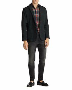 BNWT Polo Ralph Lauren $400 Wool Knit Blazer Sweater Mens M Heather Grey PRL